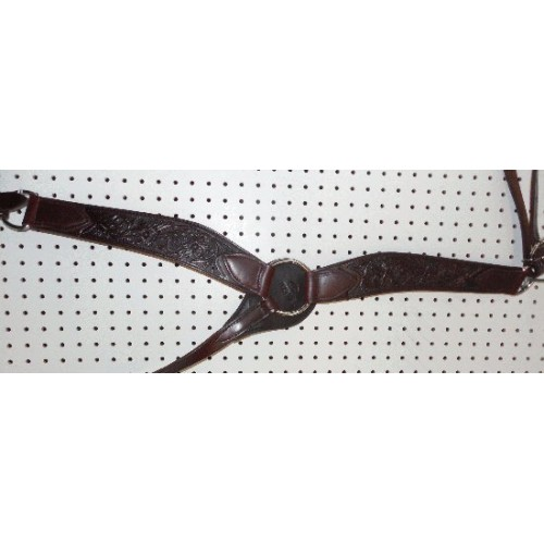 Chocolate Color Billy Cook Breast Collar With Flowers Pattern #909