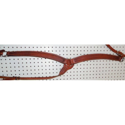 Chestnut Color Billy Cook Breast Collar With Thin Basket Weave Pattern #901