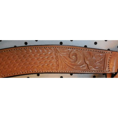 Russet Color Billy Cook Breast Collar With Flower & Basket Weave Pattern #903