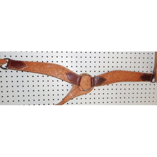 Russet Color Billy Cook Breast Collar With Flowers Pattern #909