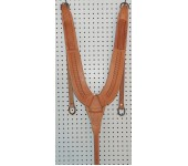 Russet Leather S Pattern Stamped Pulling Collar