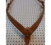 Russet leather Breast Collar With Engraved Spots