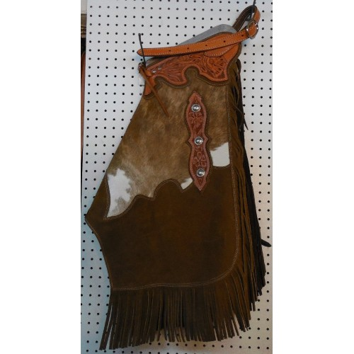 Saddle Barn Cowhide And Leather Chinks