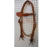 Hermann Oak heavy harness headstall w/ Horseshoe Brand hardware