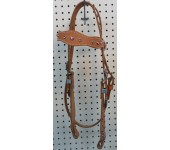 Russet Leather Headstall With Pink & White Swarovski Crystals #2