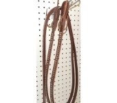 Brown Leather Split Reins With Nickle Spots