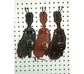 Spotted Buckaroo Style Spur Straps