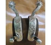 E. Garcia Long Shank Silver Spurs
